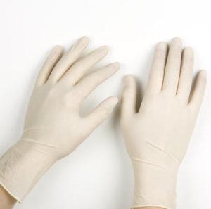 Перчатки белые