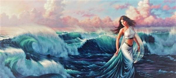 Афродита выходит из моря при рождении